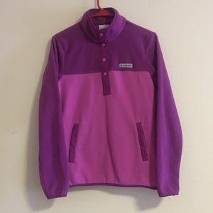 Columbia pink & purple pullover sweater Euc